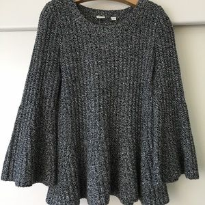 Gap crop peplum swing sweater